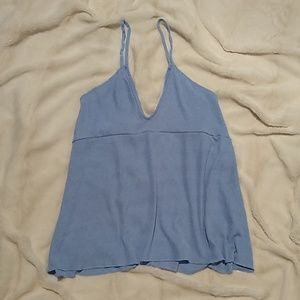 Zara Tops - ZARA shiny blue tank top